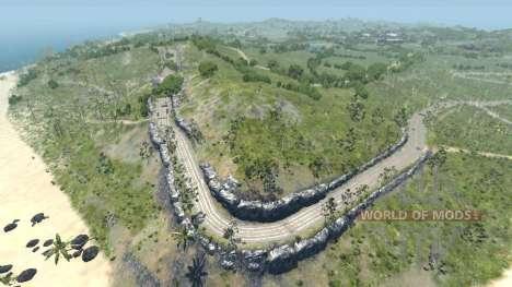Ubicación-Seca de la roca de la isla- para BeamNG Drive