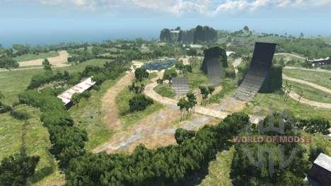La ubicación de la isla Paraíso para BeamNG Drive