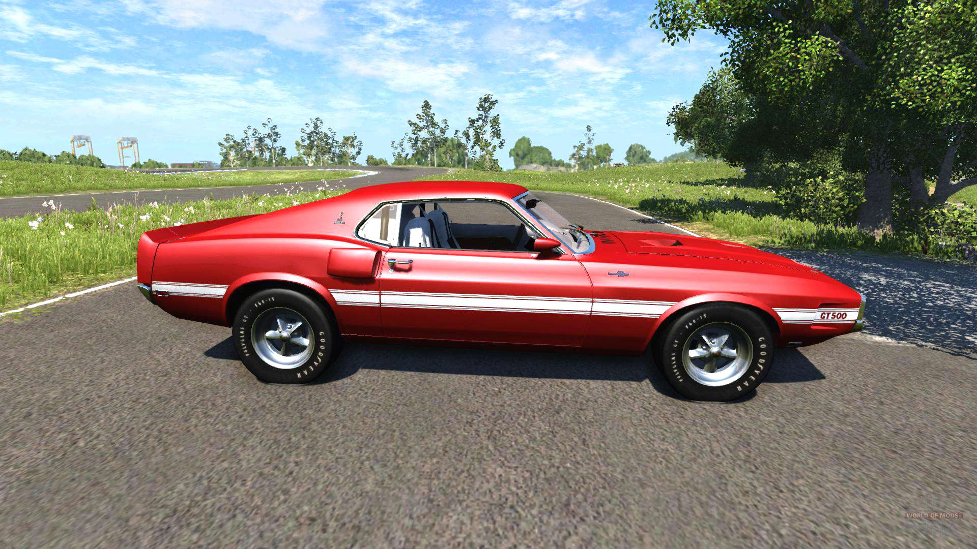 ford mustang shelby gt500 428 cobra jet 1969 para beamng drive. Black Bedroom Furniture Sets. Home Design Ideas