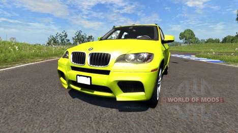BMW X5M Yellow para BeamNG Drive