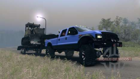 Ford F-350 Super Duty 6.8 2008 GooseNeck para Spin Tires