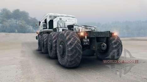 Blanco MAZ-535 para Spin Tires