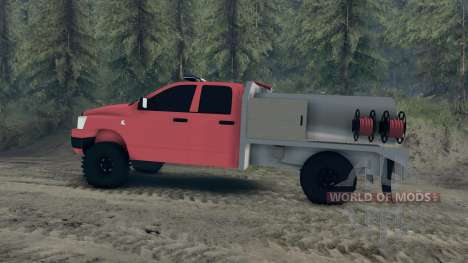 Dodge Ram 1500 brush truck para Spin Tires