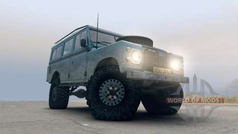 Land Rover Defender Blue para Spin Tires