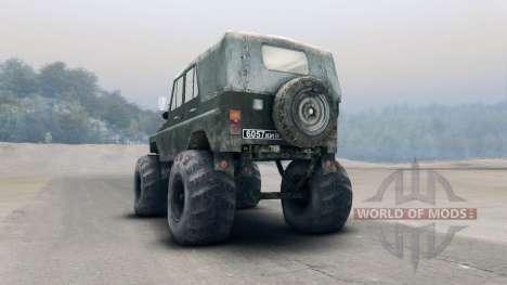 El UAZ-469 para Spin Tires