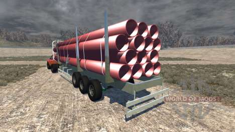 Gavril D-Series full size logging trailer para BeamNG Drive