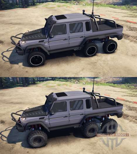 Mercedes-Benz G65 AMG 6x6 Ultimate para Spin Tires