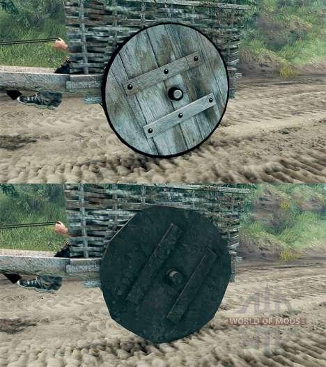 El carrito de la v1.1 para Spin Tires