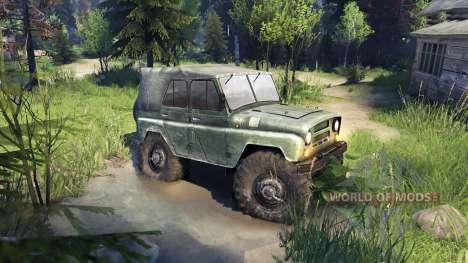 УАЗ-469 de Camiones de Monstruo para Spin Tires