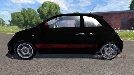 Fiat 500 Abarth Black para BeamNG Drive