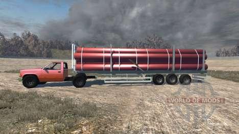 Gavril D-Series full size logging trailer para BeamNG Drive