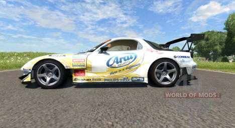 Mazda RX-7 Drift Arial para BeamNG Drive