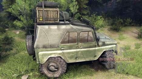 El UAZ-469 vehículo para Spin Tires