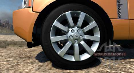 Range Rover Supercharged 2008 [Orange] para BeamNG Drive