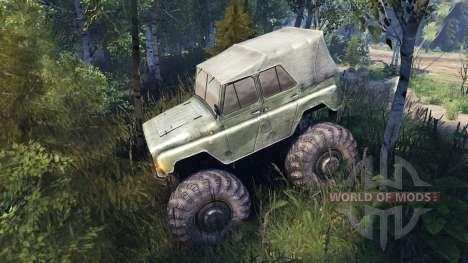 УАЗ-469 Monster Truck v2 para Spin Tires