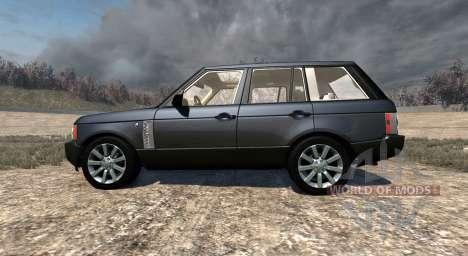 Range Rover Supercharged 2008 [Black] para BeamNG Drive