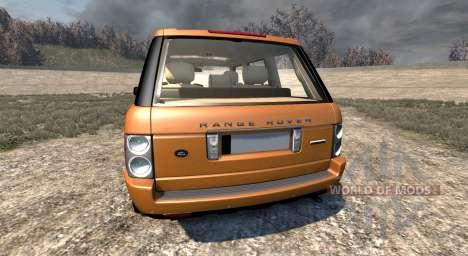 Range Rover Supercharged 2008 [Orange] para BeamNG Drive