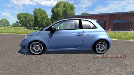 Fiat 500 Abarth Blue para BeamNG Drive