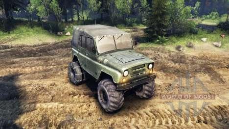 El UAZ-469, con ruedas nuevas para Spin Tires