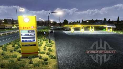 El espacio Europeo de estaciones de servicio para Euro Truck Simulator 2
