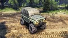 El UAZ-469, con ruedas nuevas