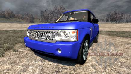 Range Rover Supercharged 2008 [Blue] para BeamNG Drive