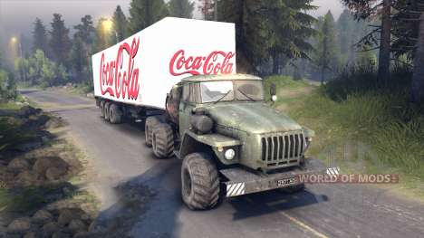 Semi-Coca-Cola para Spin Tires