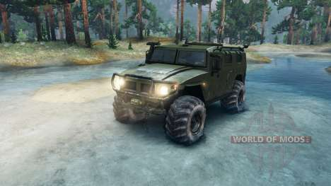 GAZ-2975 Tigre para Spin Tires