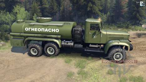 KrAZ-255B CA 8.5 Inflamables para Spin Tires