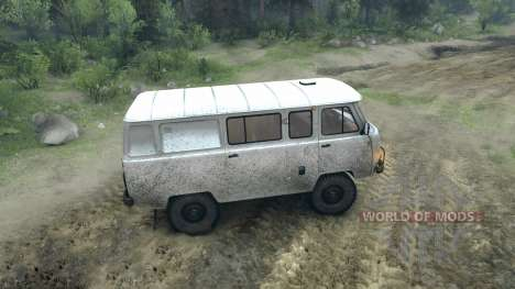 UAZ-3909 off-road para Spin Tires
