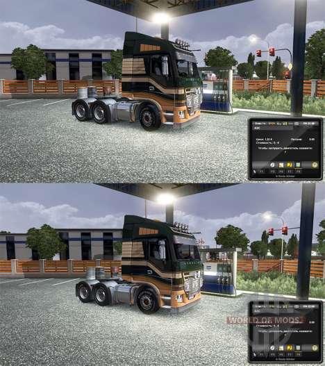 El cambio de los precios de la gasolina para Euro Truck Simulator 2
