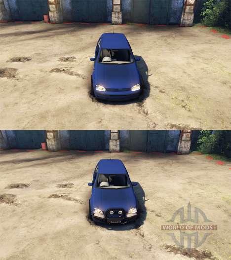Volkswagen Golf IV para Spin Tires