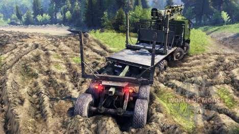 KamAZ-63501 Mustang para Spin Tires