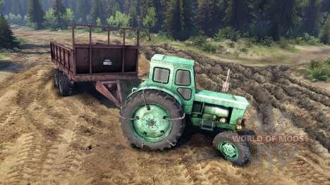 Remolque para tractor T-AM para Spin Tires