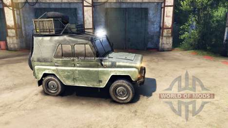 Modernizado UAZ-469 v1.1 para Spin Tires