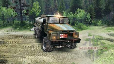 KrAZ-260 v1.1 para Spin Tires