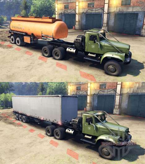 KrAZ-255B CA 8.5 Inflamables v2.0 para Spin Tires
