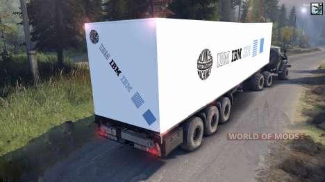 Semirremolque de IBM para Spin Tires