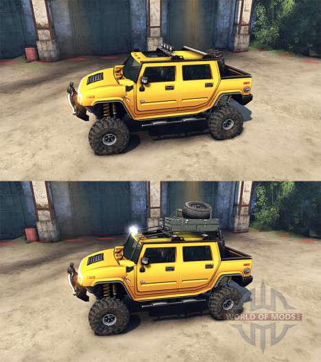 Hummer H2 SUT para Spin Tires