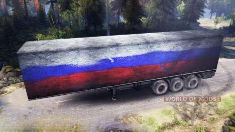 Semirremolque Rusia para Spin Tires