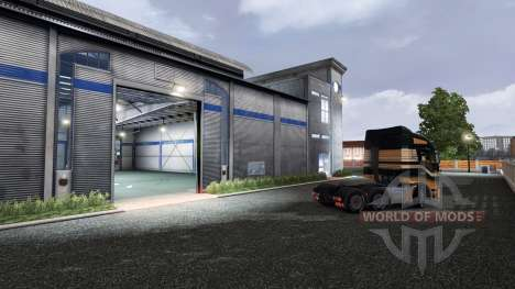 Previamente puerta de garaje de apertura para Euro Truck Simulator 2