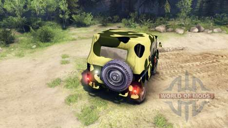 Camuflaje UAZ para Spin Tires
