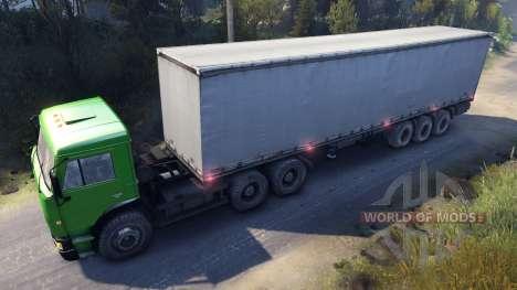 KamAZ-6522 en color verde para Spin Tires