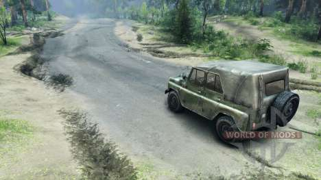 Carretera de asfalto para Spin Tires
