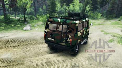 UAZ-3909 off-road v2.0 para Spin Tires
