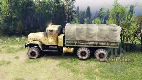 Kraz-255 BANCO de para Spin Tires