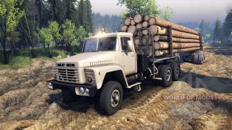 KrAZ-6437 CabCol v2 para Spin Tires