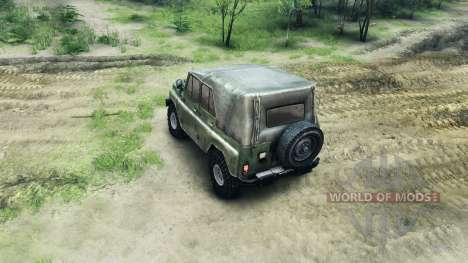 Parachoques y la rueda de la UAZ para Spin Tires