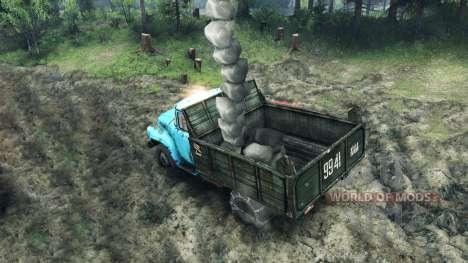 Carga de rocas para Spin Tires