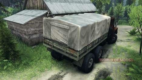 KrAZ-6437 CabCol v1 para Spin Tires